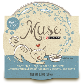 Muse by Purina: Natural Mackerel Recipe in Broth Cat Food