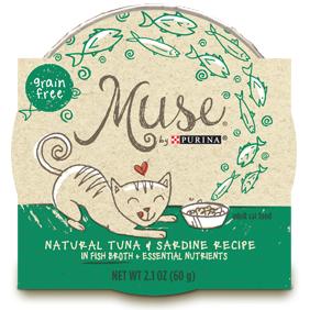 Muse by Purina: Natural Tuna & Sardine Recipe in Broth Cat Food