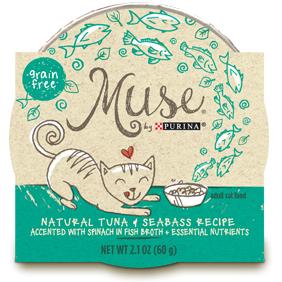Muse by Purina: Natural Tuna & Seabass Recipe in Broth Cat Food