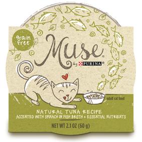 Muse by Purina: Natural Tuna Recipe in Broth Cat Food