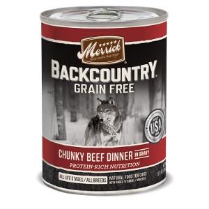 Merrick Backcountry Chunky Beef Dinner In Gravy
