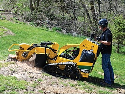 Tracked Stump Grinder