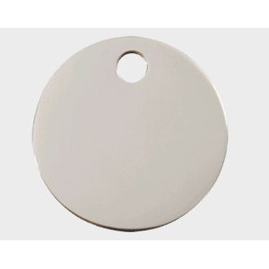 Stainless Steel Pet Tag - Circle