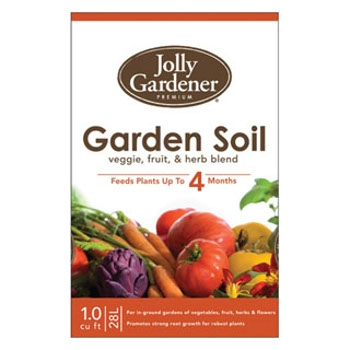 Jolly Gardener Premium Garden Soil with Plant Food, 1 cu. ft.