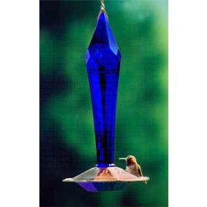 Faceted Cobalt Hummingbird Feeder