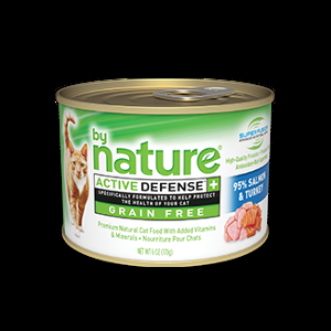 By Nature Salmon and Turkey Canned Cat Food