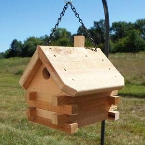Log Cabin Wren House