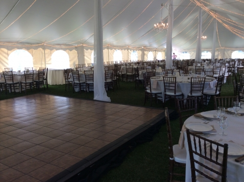 Tent Interior with Dance Floor