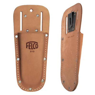 Felco 910 holster, flat, heavy-duty, belt slots & clip - Ol' Faithful (F910)