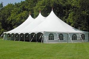 40 x 100 Peak Pole Tent