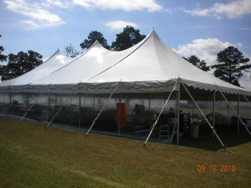 40 x 80 Peak Pole Tent
