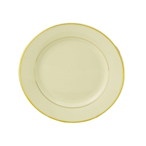 Bread & Butter Plate, Ivory w/Double Gold Band, 6""