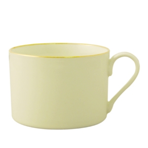 Coffee Cup, Ivory w/Gold Band