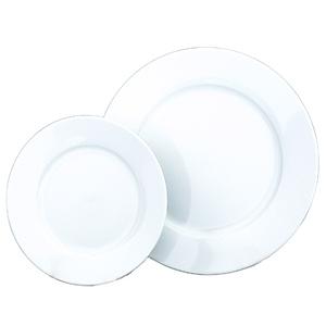 Wedding White Wide Rim Plates