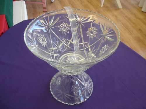 Glass punch bowl with laddle 3 gal