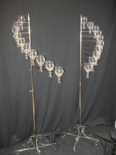 Silver 10 Lite Angel Wings Teardrop Spirals (pair)