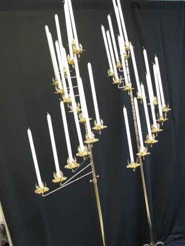 Silver 15 Lite Spiral Candleabra(pair)