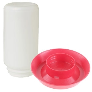 Poultry Waterer, threaded base, 1 qt.