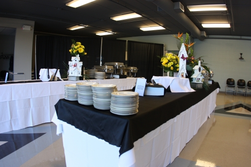 8ft Tables for Buffet Lines