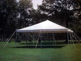 Tent, White Pole 20' x 20'