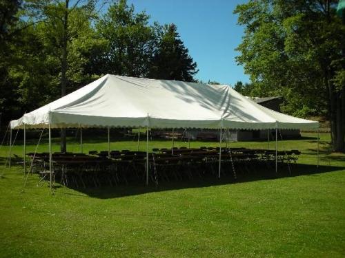 Tent, White Pole 20' x 40'