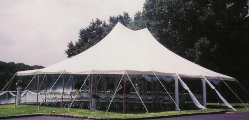 Tent, White Pole 30' x 40'