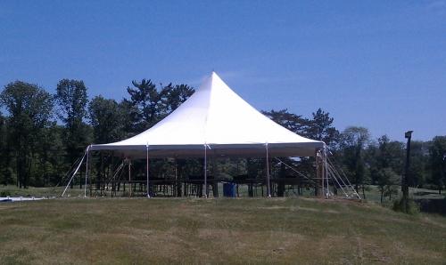 Tent, White Pole 30' x 30'