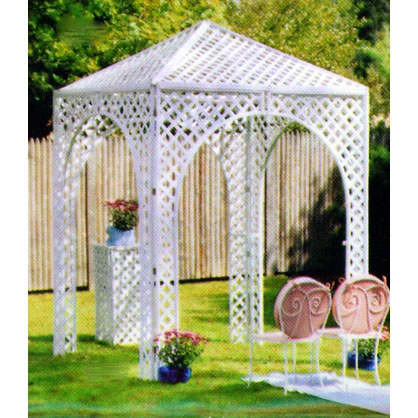 White Lattice Gazebo, 80
