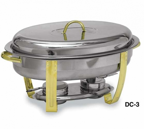 Deluxe 6 qt. Gold Trimmed Oval Chafer