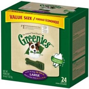 Large Greenies Dog Dental Treats - Value Size