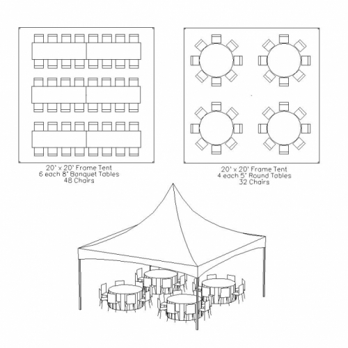 Tent Party Package - seating for up to 40
