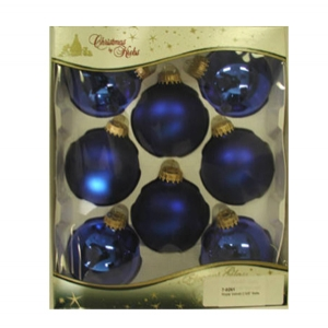 8-pack solid color ornaments