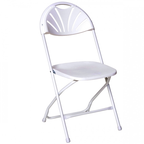 White Fan Back Chairs