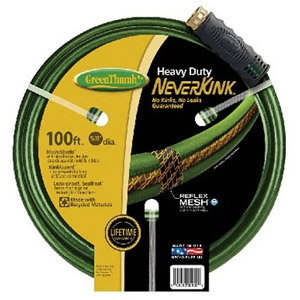 Green Thumb Green Heavy-Duty Never-Kink Garden Hose