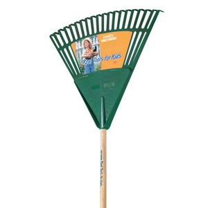 True Temper Real Tools for Kids 18in Poly Rake