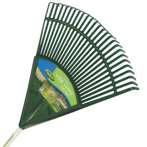 Green Thumb 24-Inch Basic Poly Lawn & Leaf Rake