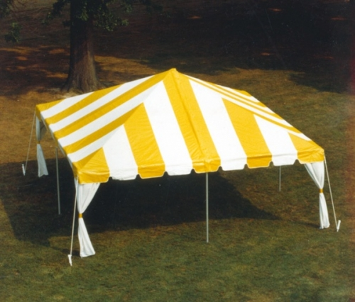 Tent, 20' x 20' Frame Yellow & White