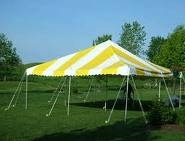 Tent, 20' x 20' Canopy Yellow & White