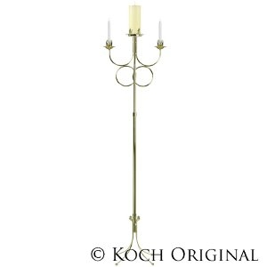 Double Ring Unity Candelabra - Brass