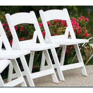 PS White Garden Folding Chair