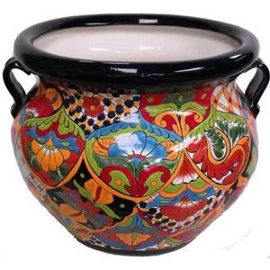 Talavera Michoacanas Pot - Large