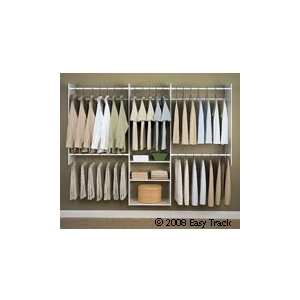 Easy Track 4' to 8' Deluxe Tower Closet - White