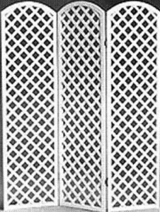 Arched Top Room Divider Panels White Lattice