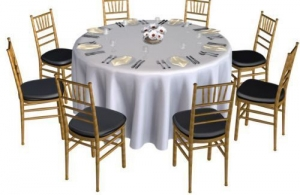 Round Table Linens 132