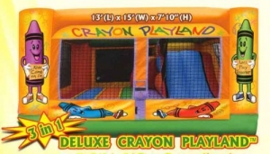 Crayola 3-in-1 Inflatable Bounce House