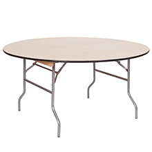 60'' Round Wood Table