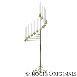 15 Light Spiral Candelabra - Brass