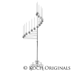 15 Light Spiral Candelabra - Nickel