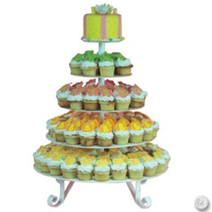 5-Tier White or Gray Cupcake Tree