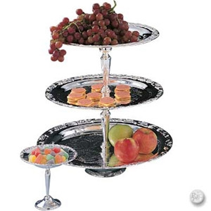 3-Tier Silverplate Large Dessert Stand